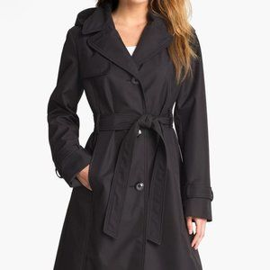ELLEN TRACY Short Trench With Hood Size Medium